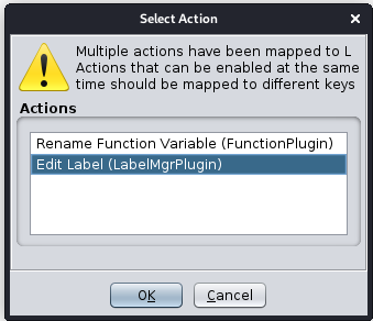 Select Action Prompt