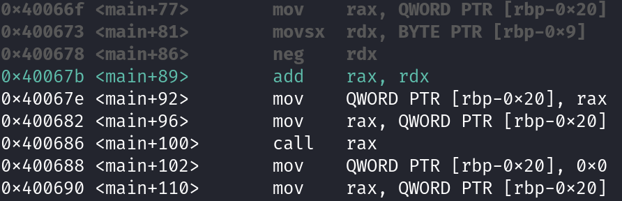 Subtracting RDX from RAX
