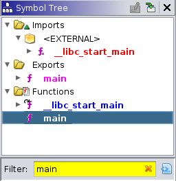 Filtering on the main function