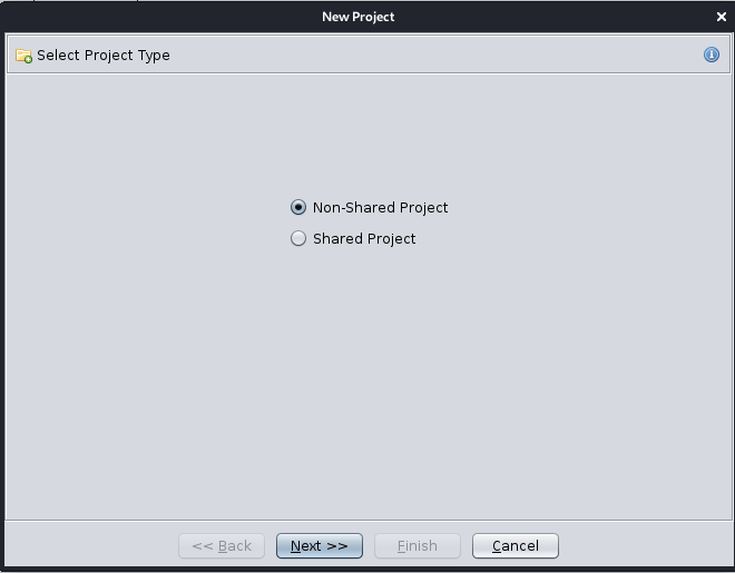 Select Non-Shared Project