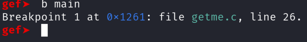 Setting a breakpoint at the main function