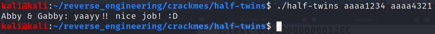 Solving Half-Twins