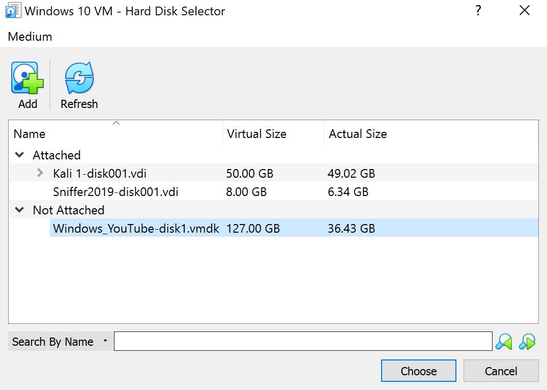 Added VMDK file as a medium