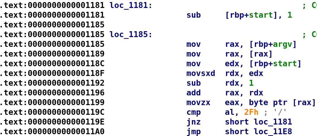 Analyzing loc_1185