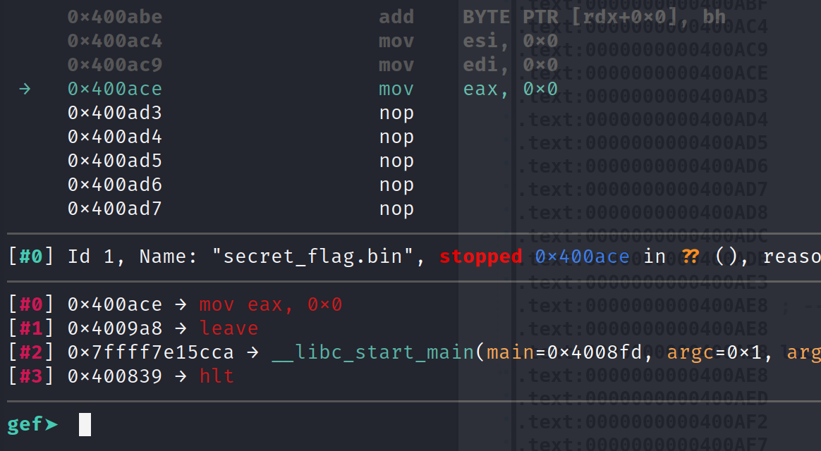 Breakpoint before NOP'd ptrace function call