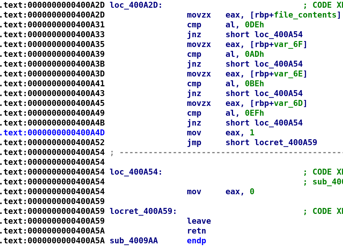 Correct file contentsWe can see what the program actually wants in the /tmp/secret file