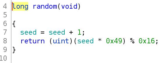 Decompiled Random Function