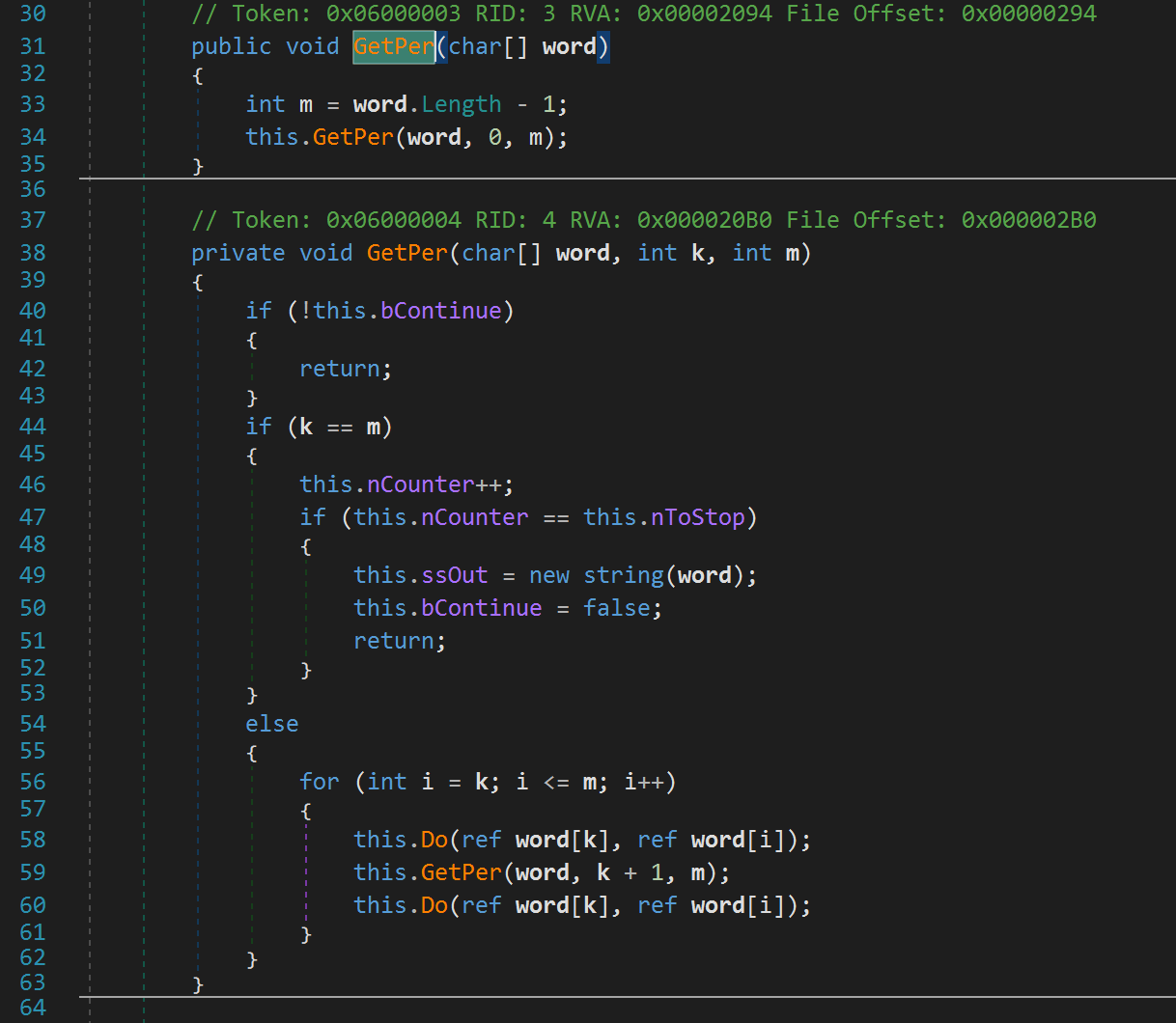 GetPer function