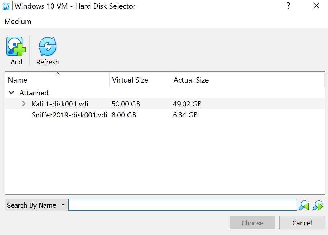 Hard Disk Selector Menu