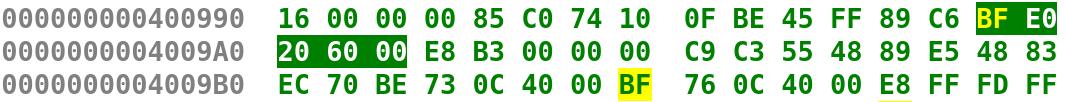 MOV Instruction in bytes