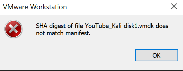 Import Error when Manifest File is not deleted