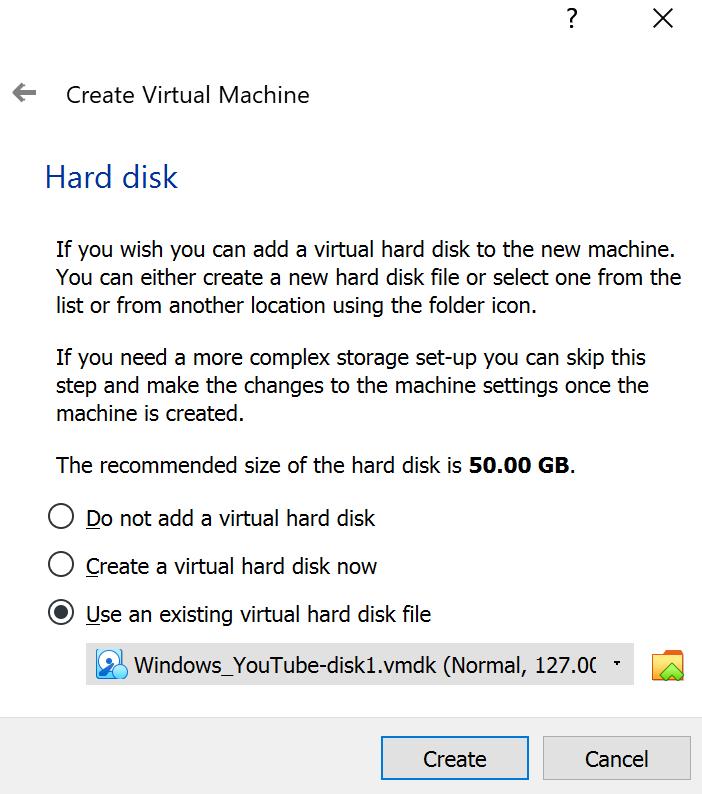 Updated hard disk selector
